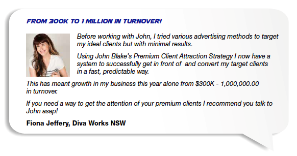 John Blake - Fiona Jeffery Diva Works - Sales Training West Perth