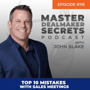 John Blake Top 10 Mistakes With Sales Meetings